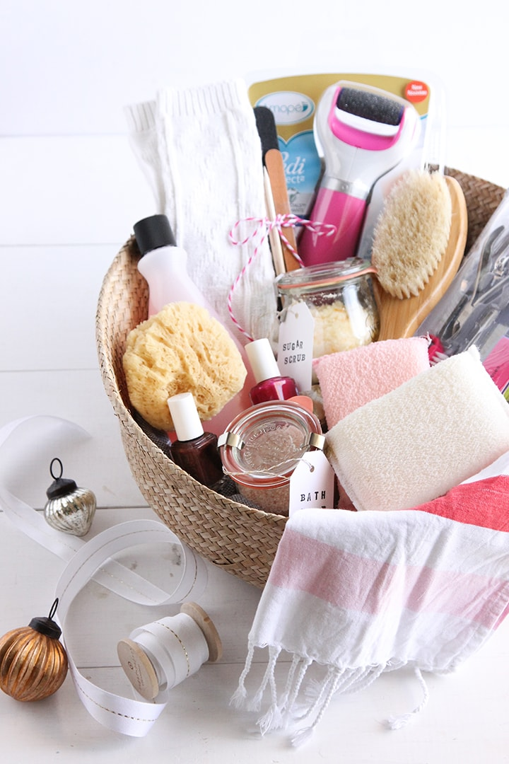 "Create a ""Pamper Yourself"" Holiday Gift basket"