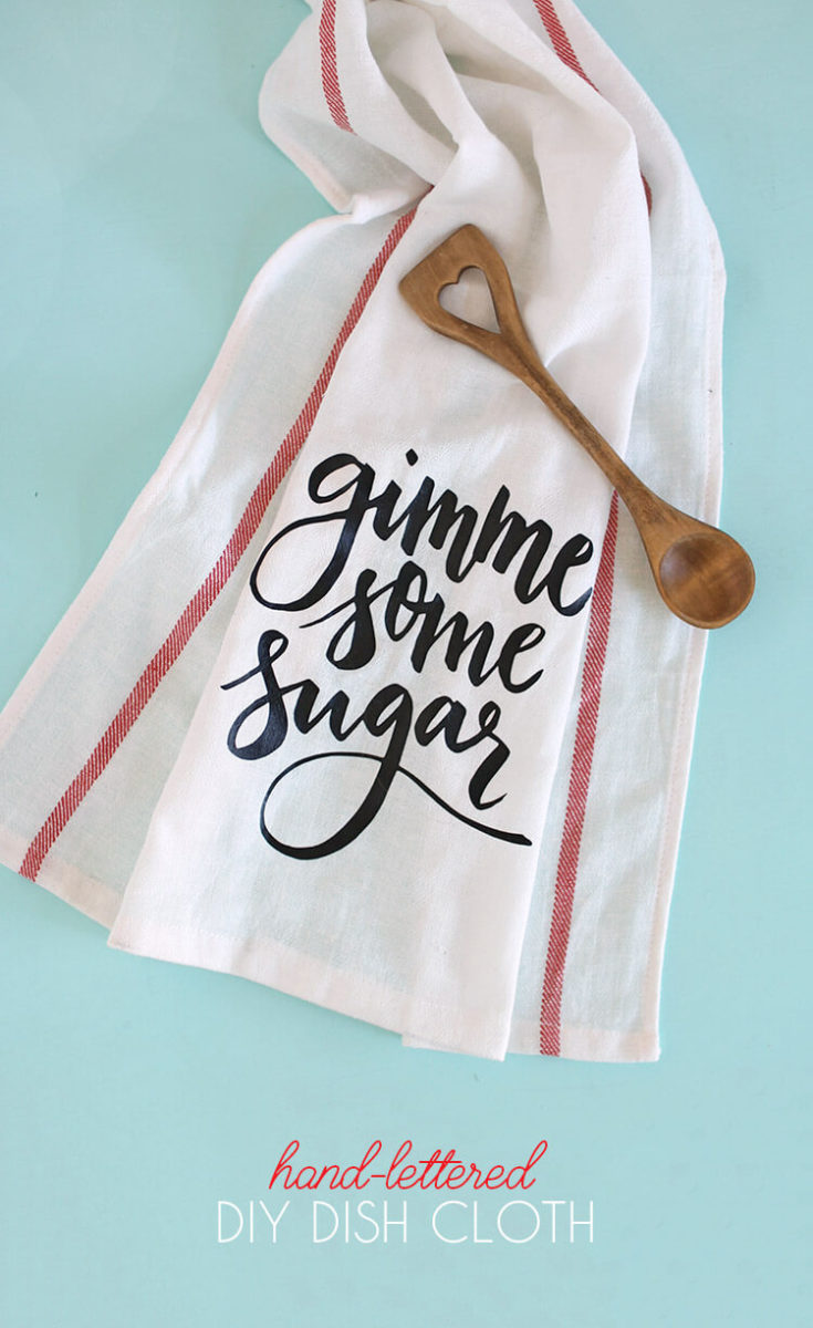 Gimme Some Sugar DIY Dish Cloth Gift