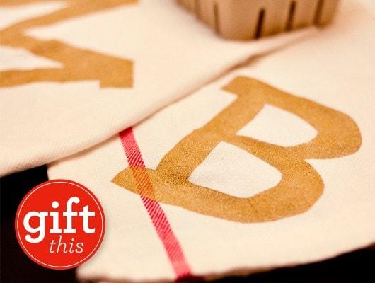 DIY Monogram Teal Towel - Sarah Hearts
