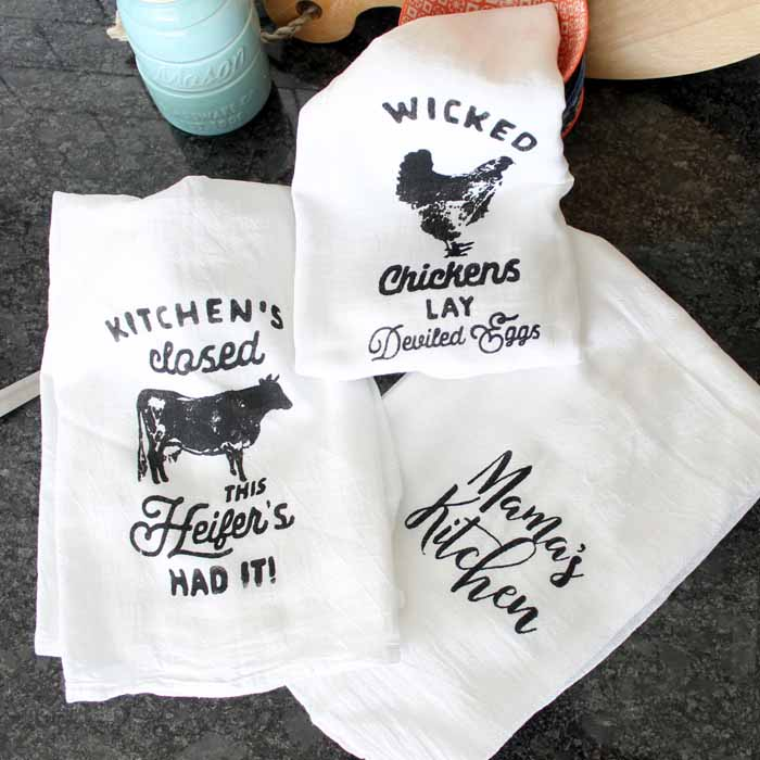 Tea Towel Printing Made Easy with Chalk Couture