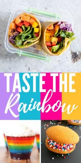 Rainbow Recipes | Rainbow Themed Recipes | Taste The Rainbow | Rainbow Desserts | Healthy Colorful Foods | Colorful Recipes | #recipes #recipeideas #healthyfood #rainbow #rainbowparty