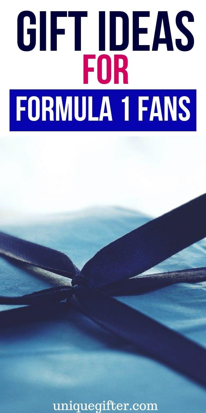 Gift Ideas for Formula 1 Fans| Race Fan Gifts | Gifts For Race Car Fans | Racing Presents | Presents For Racing Fans | #gifts #giftguide #racing #fans #unique #formula1 #uniquegifter