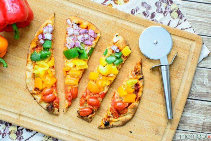 Rainbow Veggie Pizza -