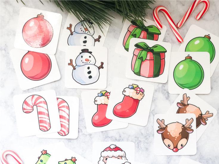 Free Printable Christmas Matching Game For Kids