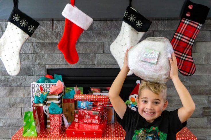 Hilarious Lump of Coal Christmas Saran Wrap Game
