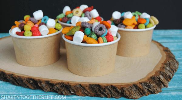 Easy Rainbow Snack Mix