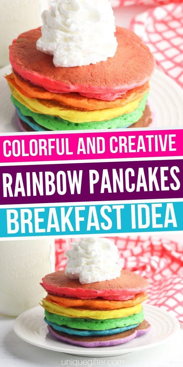 The Best Easy Rainbow Pancakes Recipe | Rainbow Pancakes | Easy Rainbow Pancakes | Fun Rainbow Pancake Recipe | #pancakes #easy #rainbow #simple #quick #uniquegifter