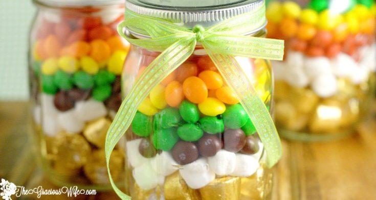 Rainbow Mason Jar Treats