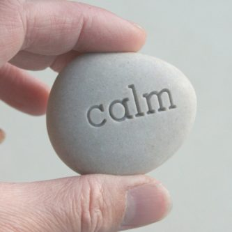 """Calm"" Mini Pocket Stone"