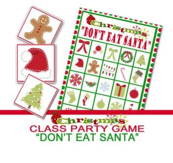 """""""Don't Eat Santa"""" Game"""