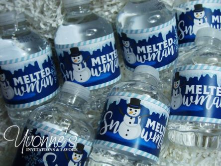 """Melted snowman"" Water Bottle Wrappers"