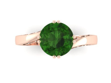 14Kt Gold Emerald engagement ring