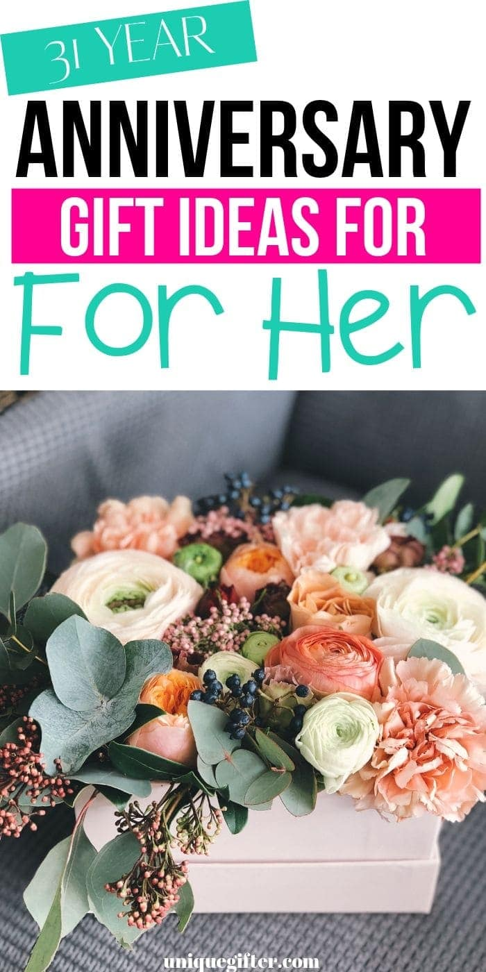 Best 31 Year Anniversary Gift Ideas for Her   Creative Gifts For Her   Anniversary Gift Ideas For Her   Celebrate 31st Anniversary   #gifts #giftguide #anniversary #her #uniquegifter