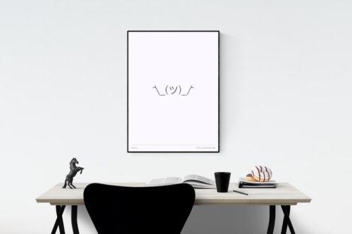 ASCII Shrug Print