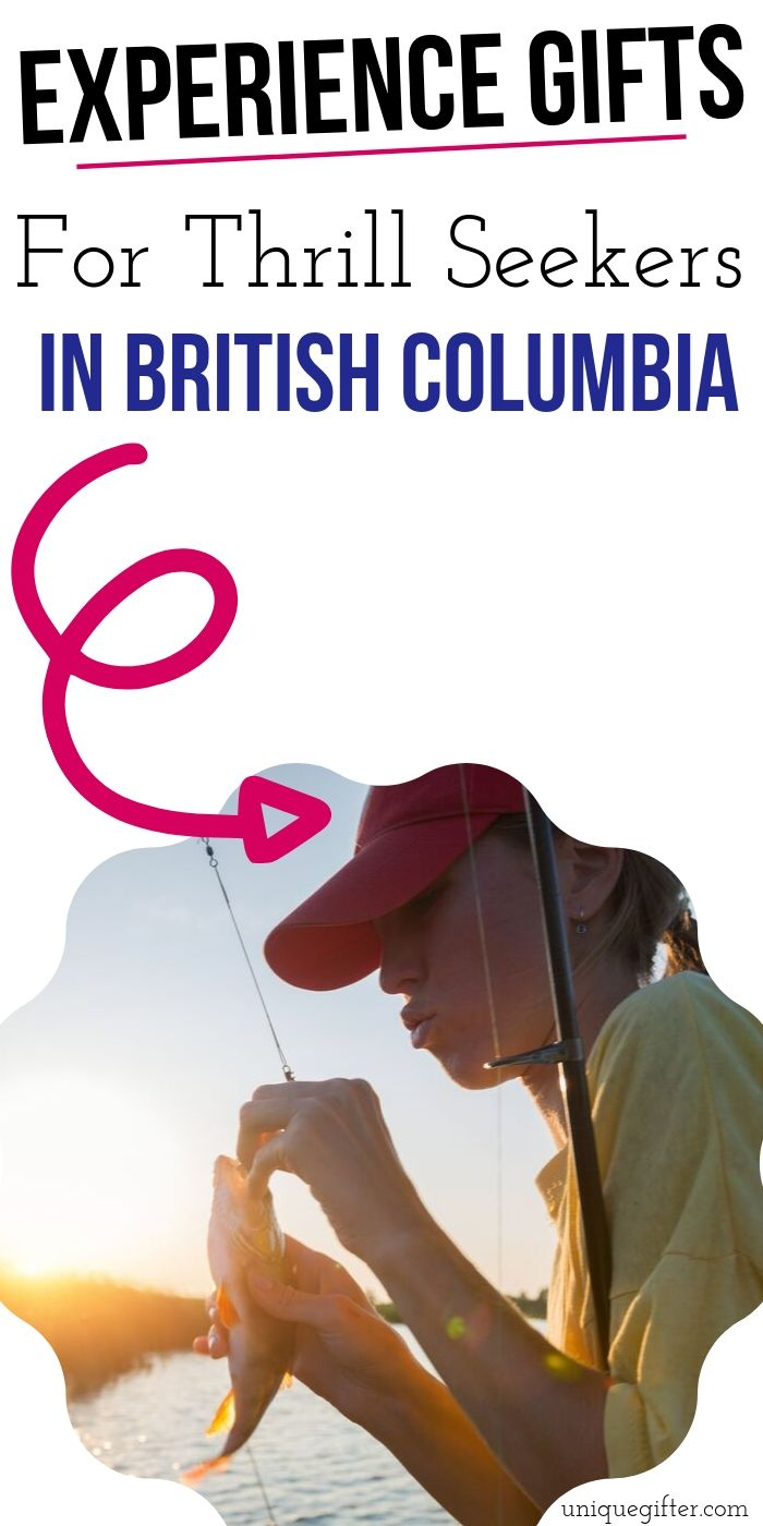 Adrenaline Junkie Experience Gifts in British Columbia| Experience Gift Ideas | Adventure Gift Ideas | Presents For An Adventure | #gifts #giftguide #presents #adventure #experience #uniquegifter #britishcolumbia