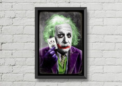 Albert Einstein Joker Print