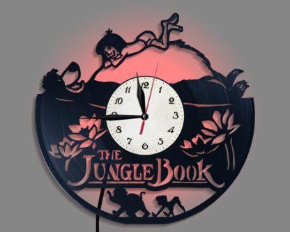 Backbit clock Jungle Book silhouette gift wall art decor