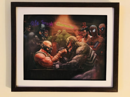 Bane/Venom wall art