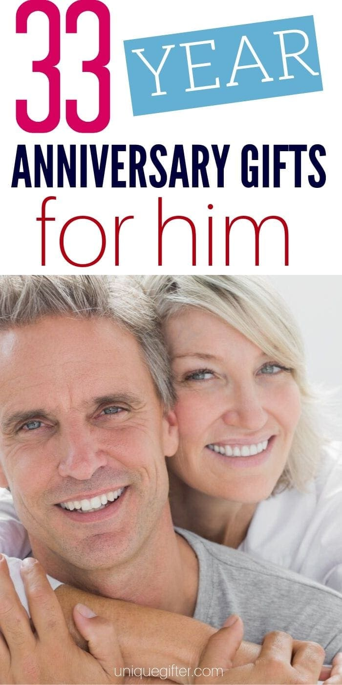 Best 33 Year Anniversary Gifts for Him | Anniversary Gifts | Creative Anniversary Presents For Your Husband | Celebrating Your Anniversary | #gifts #giftguide #anniversary #33rd #weddinganniversary #uniquegifter