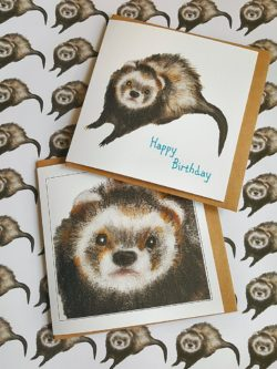 ferret birthday card for gifting to ferret lovers