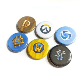 Blizzard Games Buttons (6 Pack)