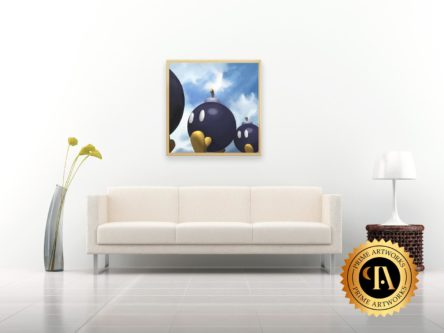 Bob-omb Wall Painting