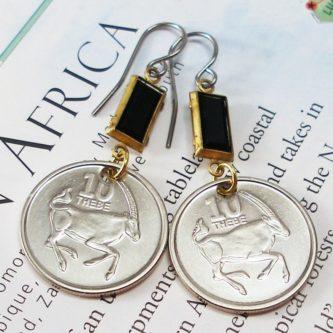 Botswana Coin Earrings
