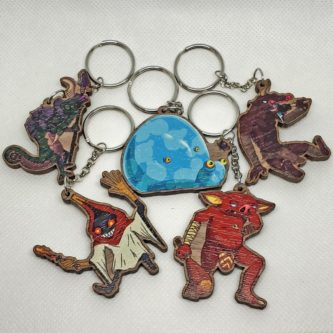 Breath of the Wild Monster Keychains