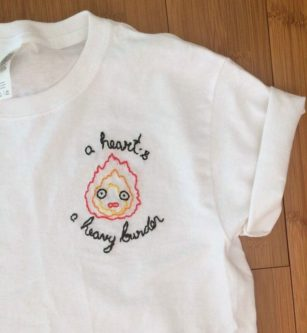 Calcifer Embroidered Shirt