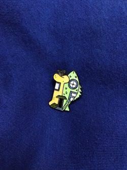 Catdog House Pin
