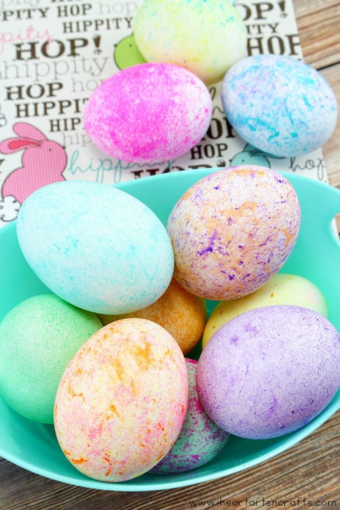 Dye Easter Eggs With Rice and Food Coloring