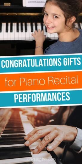 Congratulations Gifts for Piano Recital Performances   Piano Recital Gift Ideas   Creative Gifts For Piano Recitals   Thoughtful Gift Ideas For Recital Performances   #gifts #giftguide #presents #piano #recital #uniquegifter