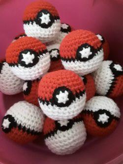 Crocheted Pokeballs