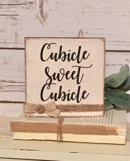 farmhouse style cubicle sign