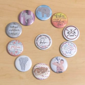 Funny custom buttons for retail employee gift idea