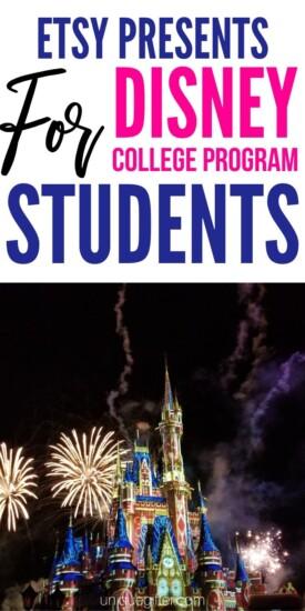 Best Etsy Presents for Disney College Program Students | Disney Fan Gifts | Disney Student Gifts | Gifts For Students In Disney Program | #gifts #disney #giftguide #college #program #disneyprogram #uniquegifter