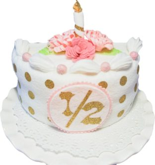 Felt Half Birthday Cake