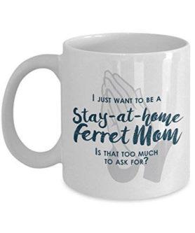 funny ferret mom mug