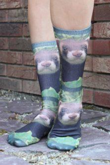 ferret image printed socks for ferret lover gift idea