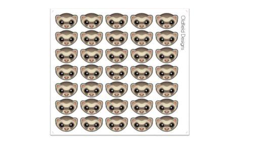 ferret face sticker sheet
