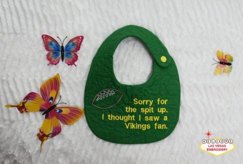 Green Bay Packers Themed Baby Bib