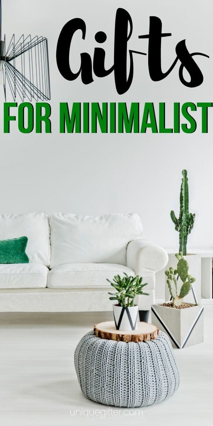 Best Gift Ideas For The Minimalist In Your Life | Minimalist Presents For Any Occasion | Creative Gifts For Minimalist | Unique Presents For Minimalist | #gifts #giftguide #presents #minimalist #holidays #uniquegifter