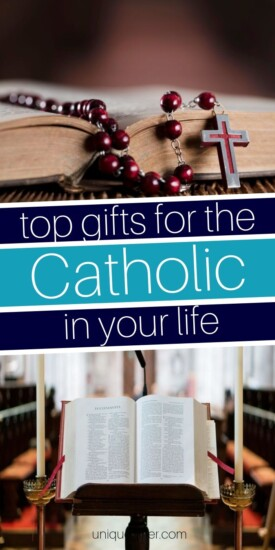 Best Gifts for the Catholic in Your Life | Gifts For Anyone Who Is Catholic | Meaningful Gifts For Catholics | Thoughtful Gift Ideas | #gifts #giftguide #catholic #religion #uniquegifter