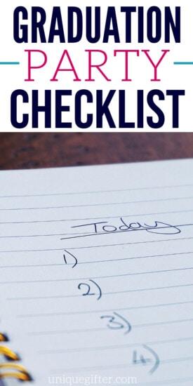 Graduation Party Checklist   Graduation Party   Planning A Graduation Party   Checklist To Prepare For Graduation Parties   #party #graduation #planning #checklist #uniquegifter