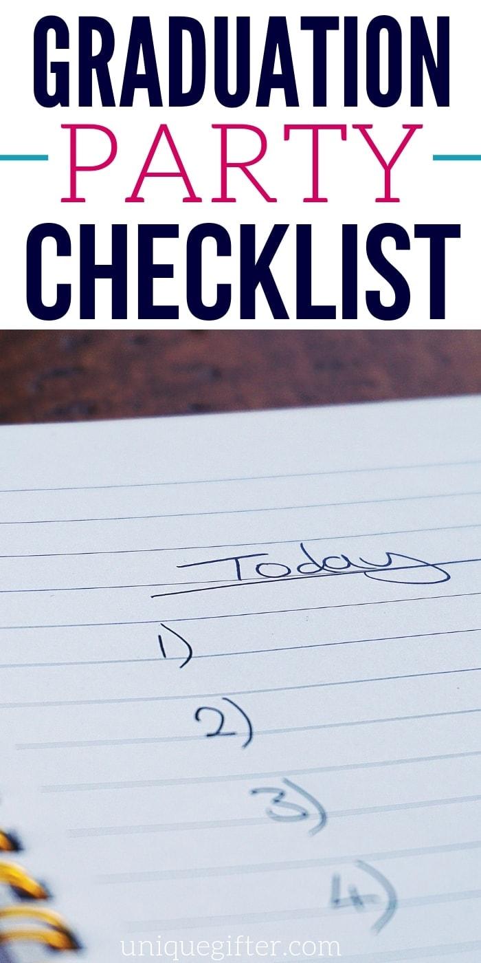 Graduation Party Checklist | Graduation Party | Planning A Graduation Party | Checklist To Prepare For Graduation Parties | #party #graduation #planning #checklist #uniquegifter