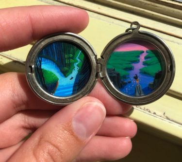 Hand-Painted Pocahontas Locket