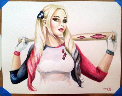 Harley Quinn pinup wall poster