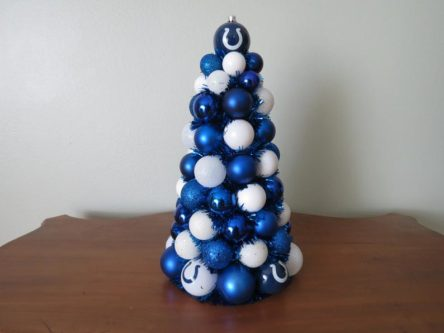 INDIANAPOLIS COLTS Football Ornament Table Top TREE Centerpiece