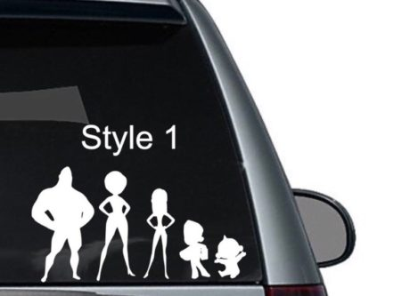 Incredibles Family Car Decal