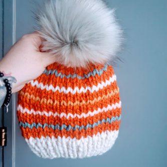 Knit Hat for kids stocking stuffer